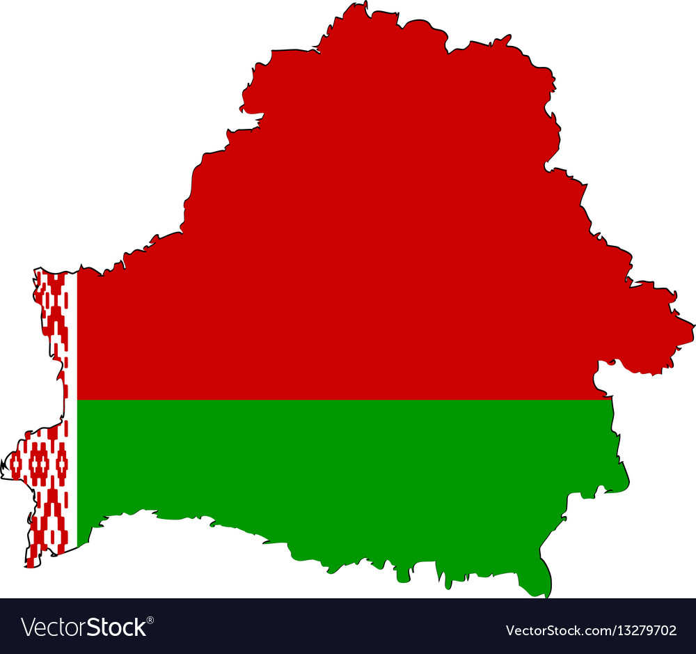 Belarusian map on a white background vector
