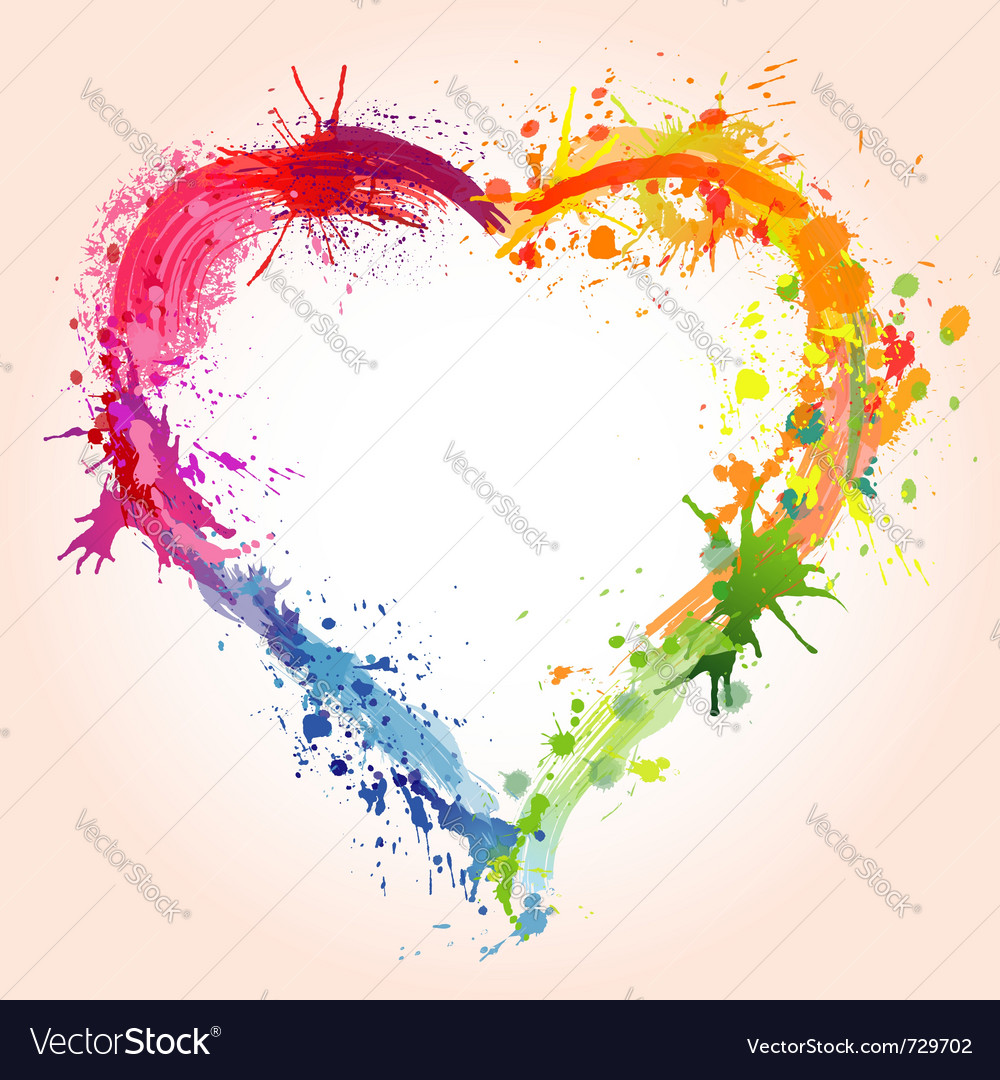 Grunge valentines day heart vector