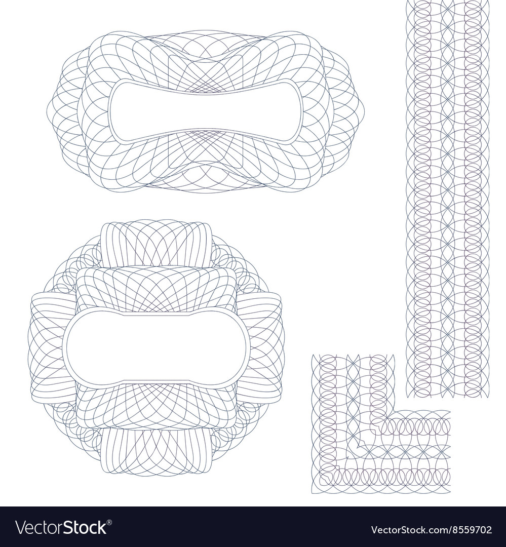 Rosettes and border vector