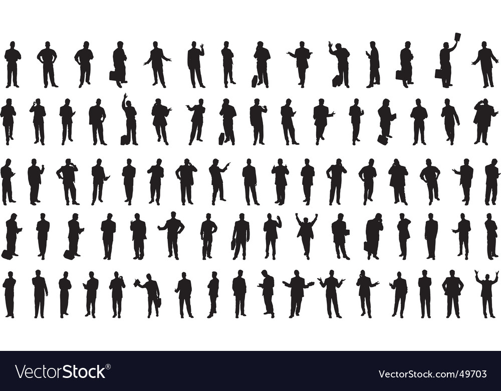 Businessmen silhouettes vector