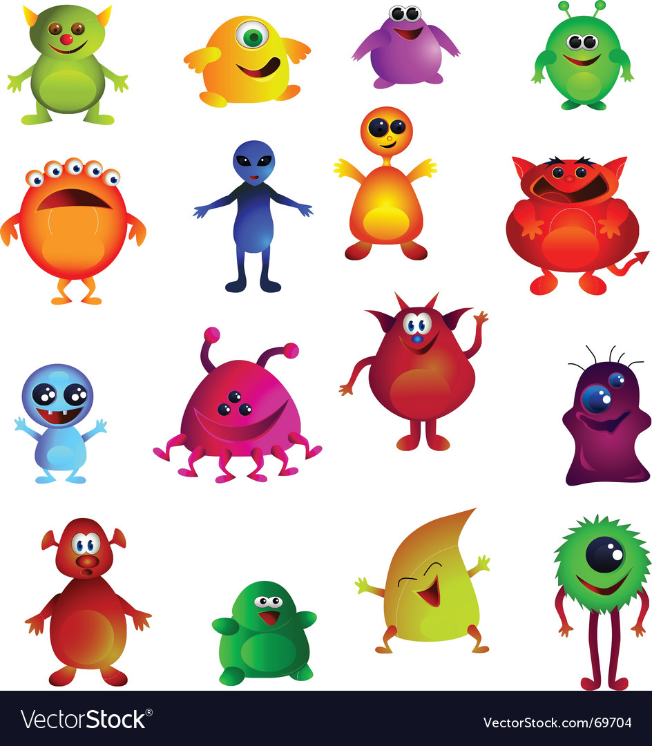 Cute monsters vector