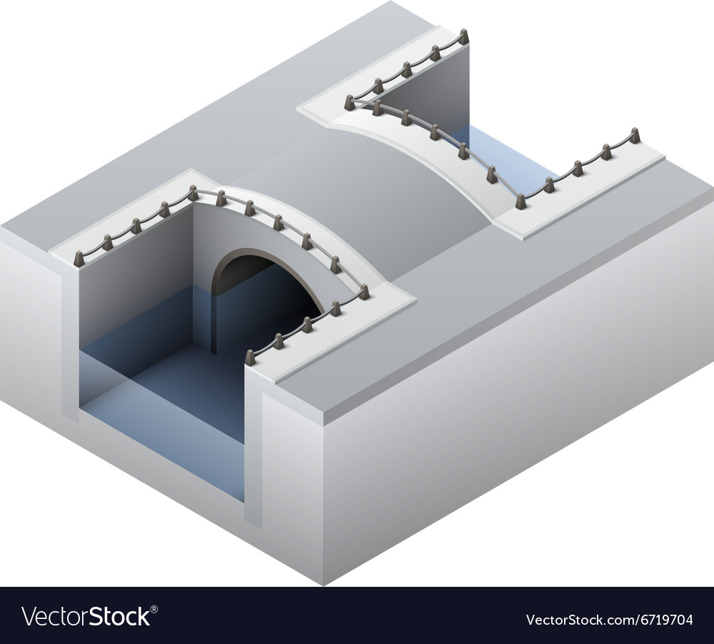 Isometric channel bridge vector
