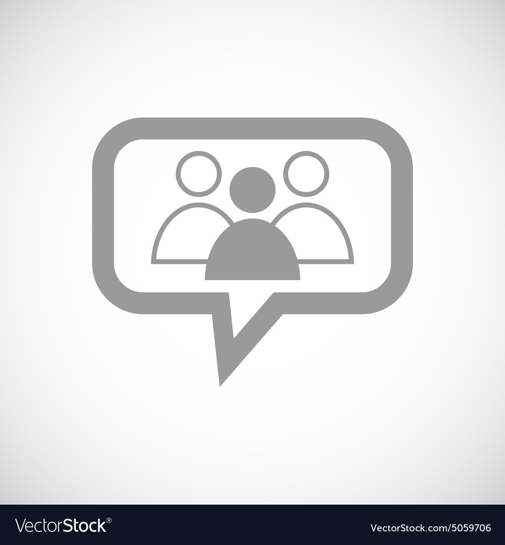 Group leader grey message icon vector
