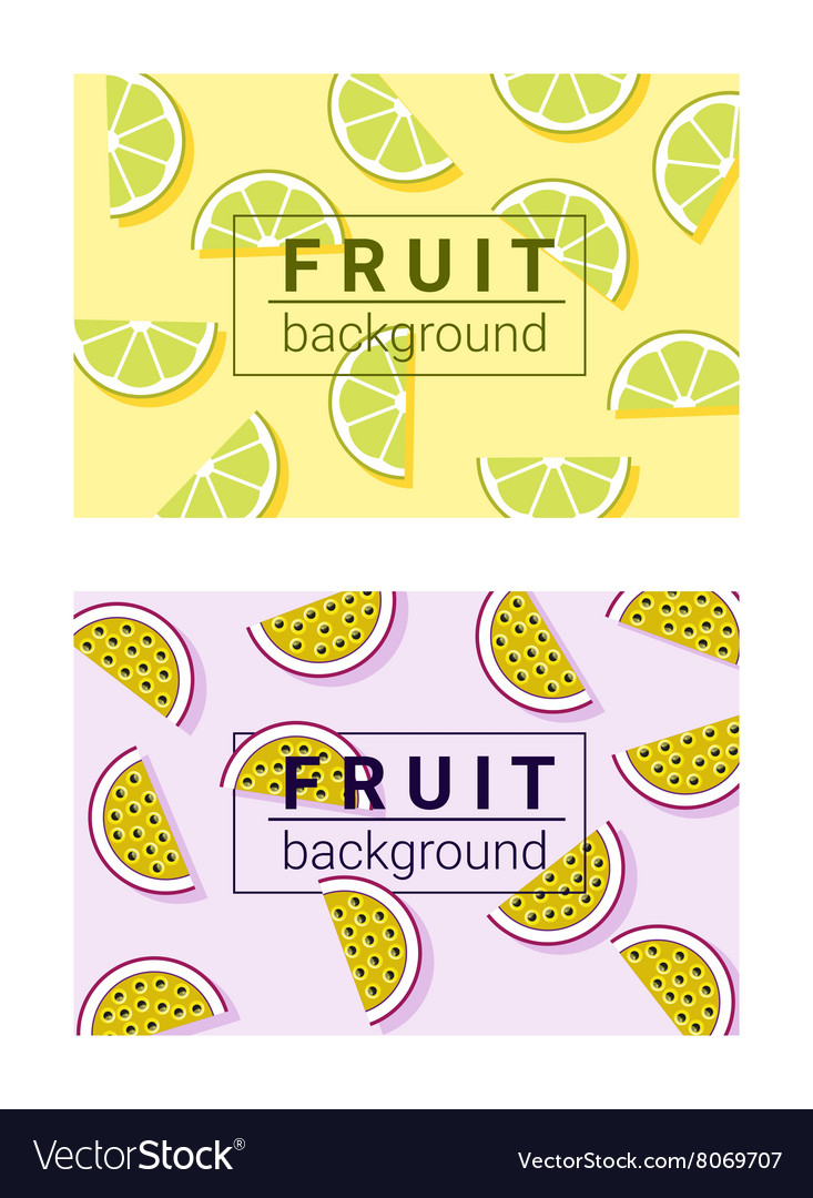 Colorful background with fruits 4 vector