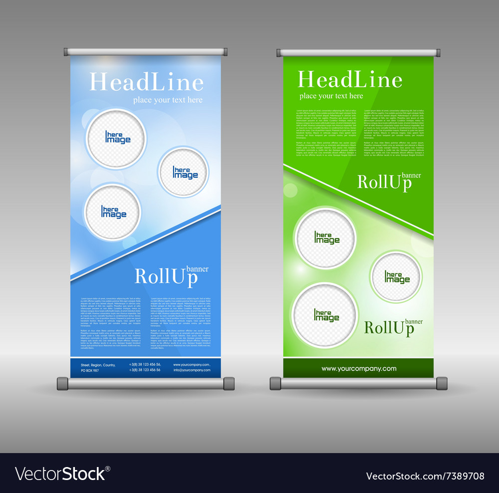 Corporate presentation for product promotion with vector