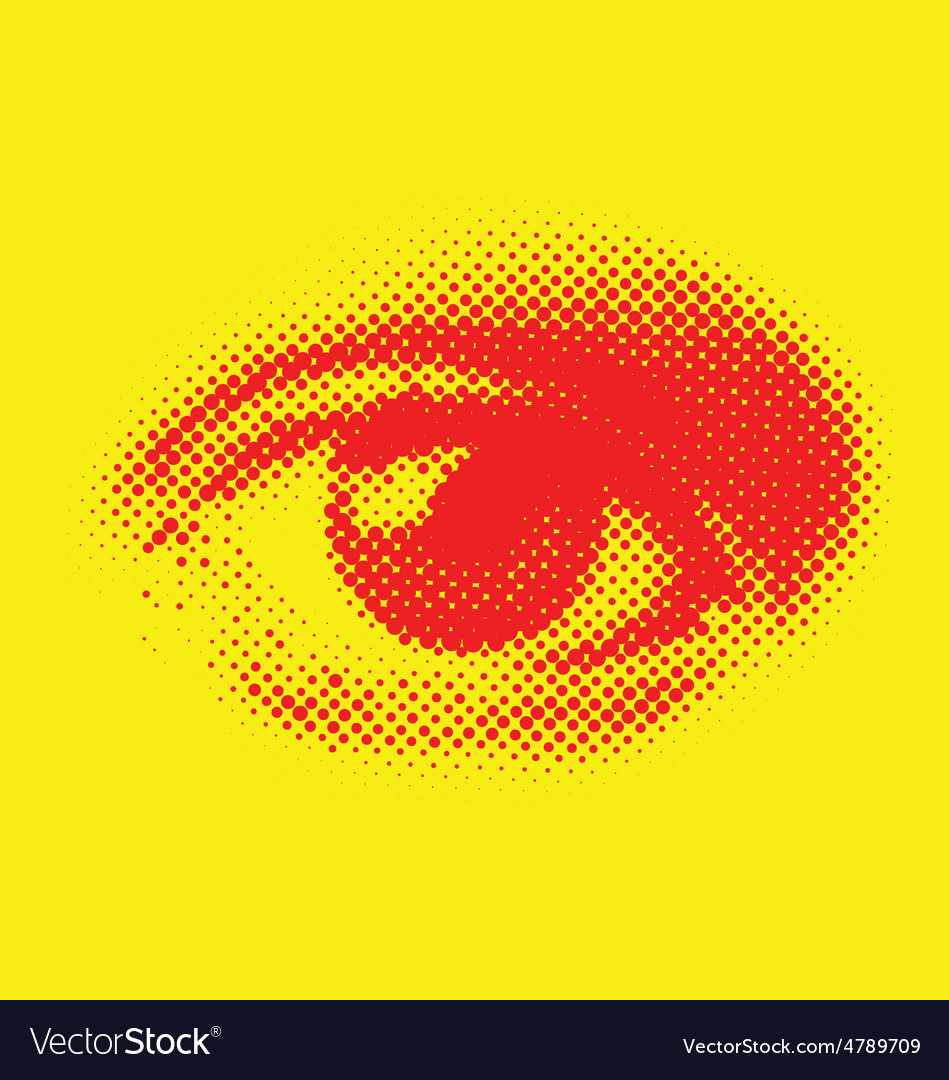 Halftone eye vector