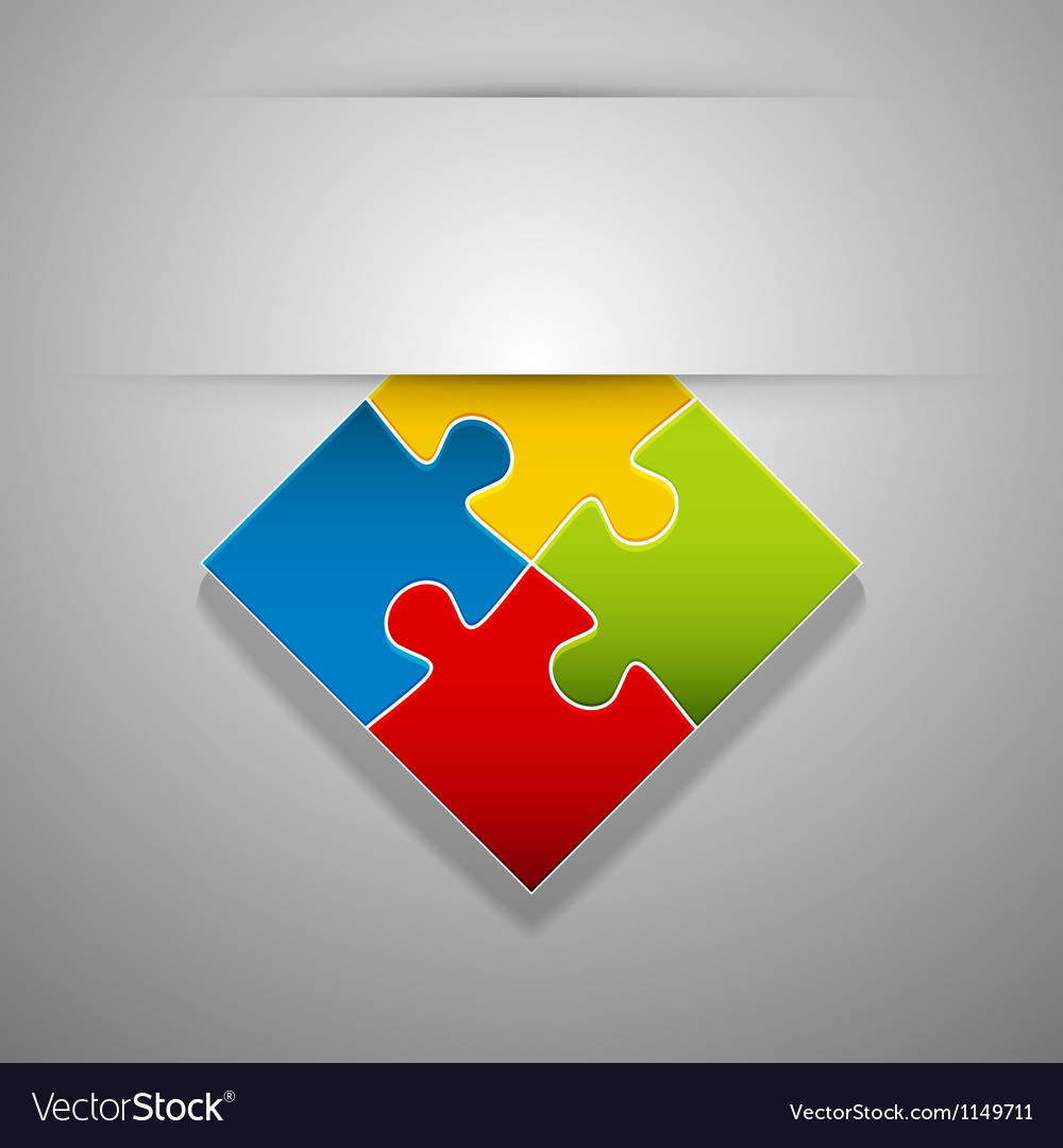 Attach puzzlesticker vector