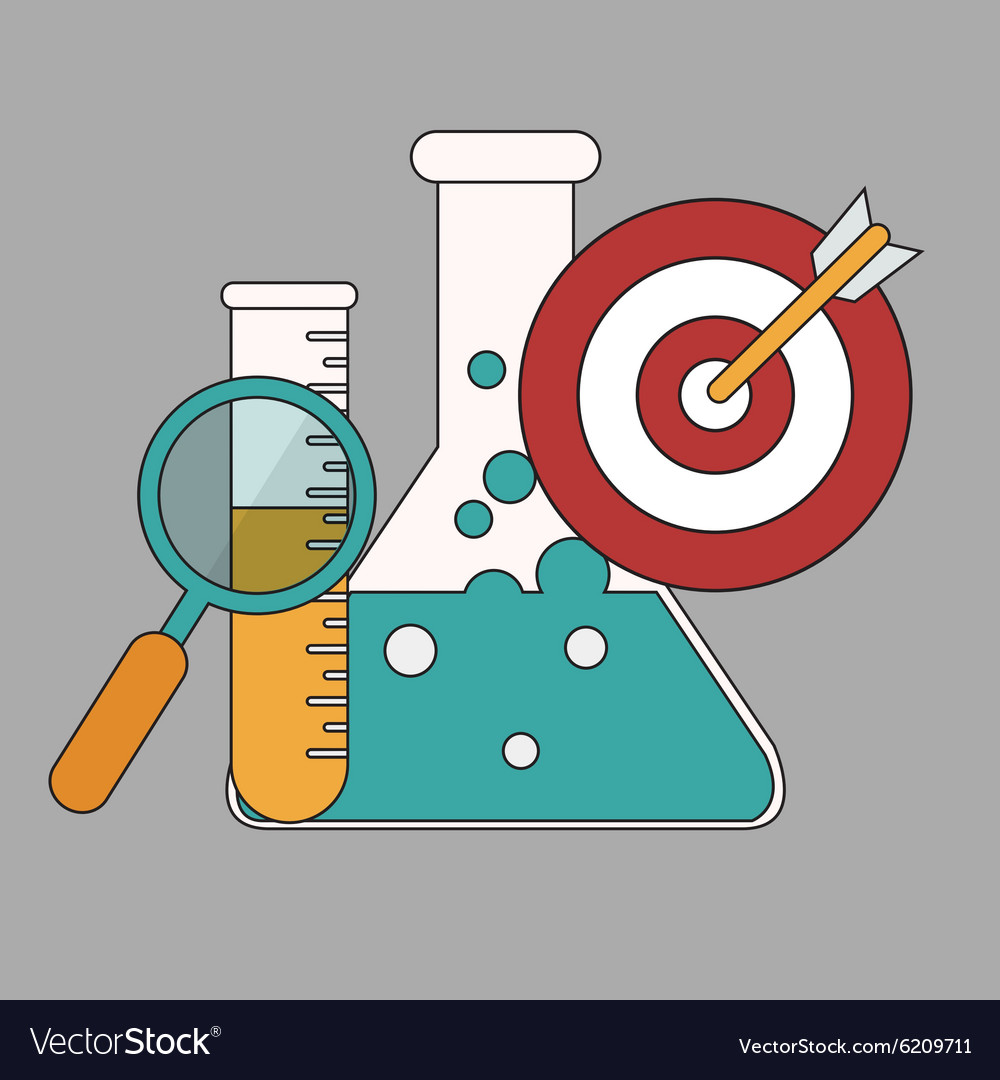 Research concept flat design stylish isolated on vector
