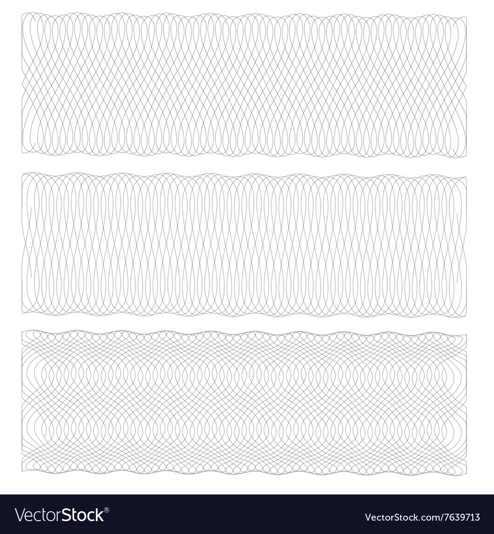 Background pattern for certificate vector