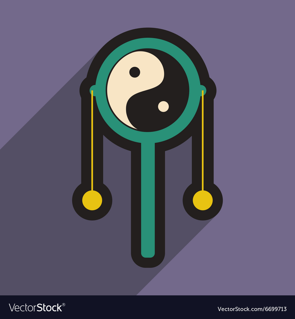 Japanese hand drum vector