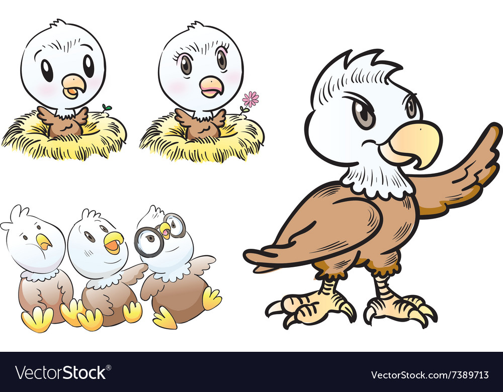 Young eagle character vector