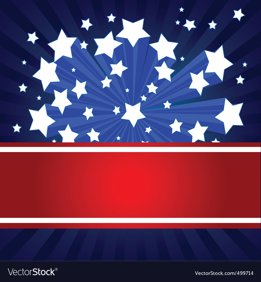 American starburst background vector
