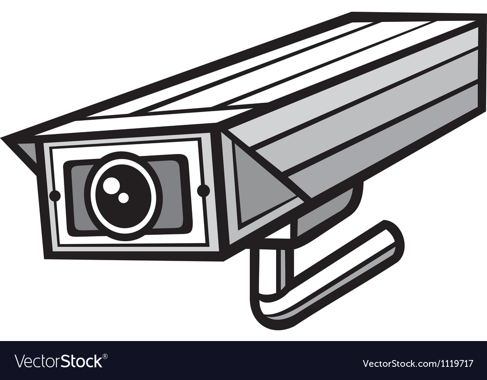 Outdoor security camera vector