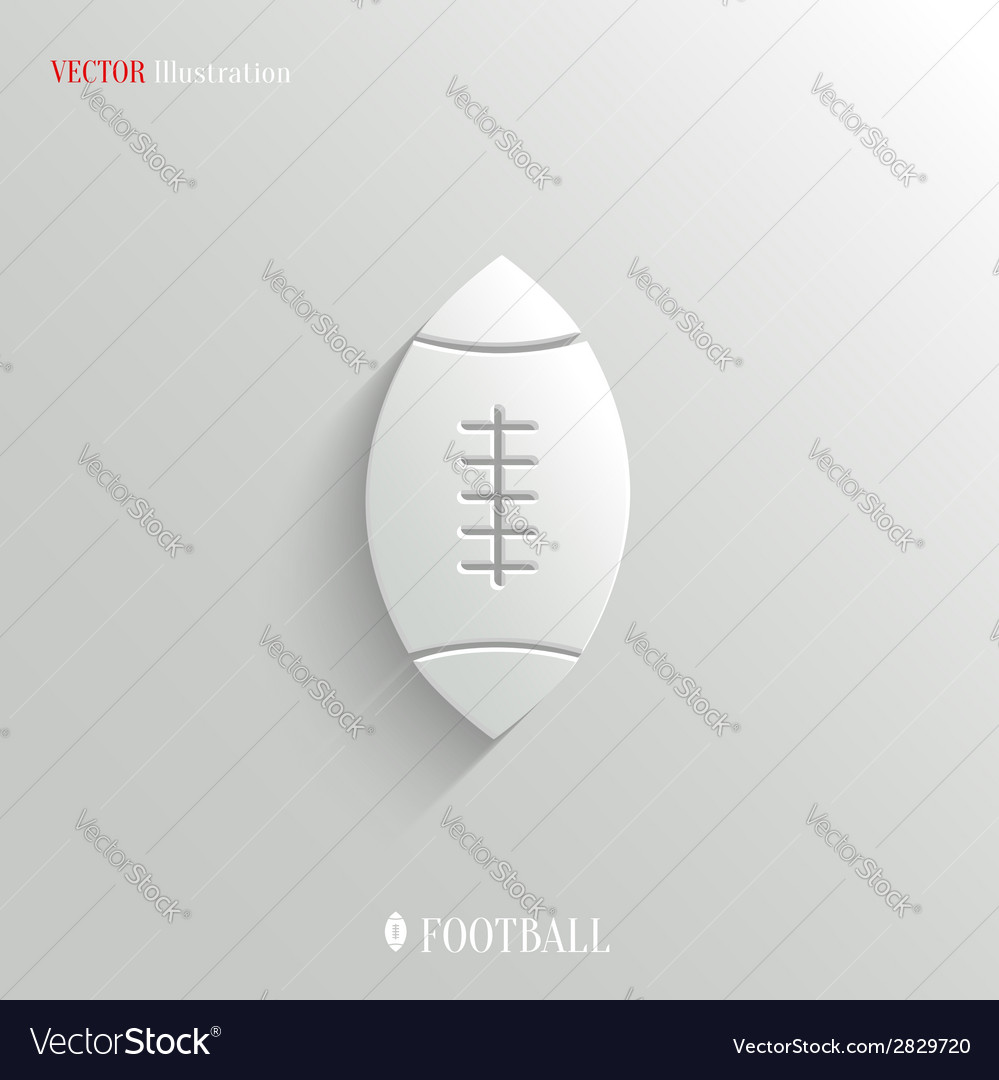 Football icon  white app button vector