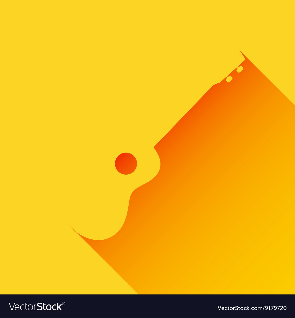 Ukulele background long shadow flat design vector