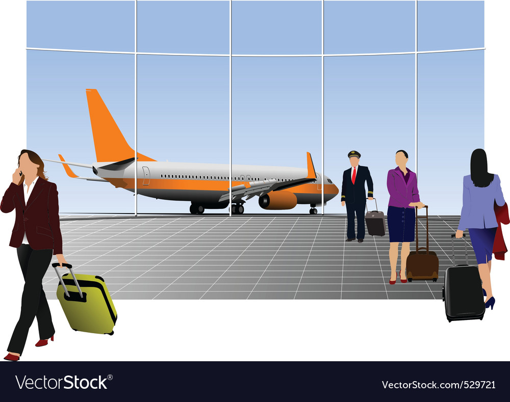 Airport graphic vector