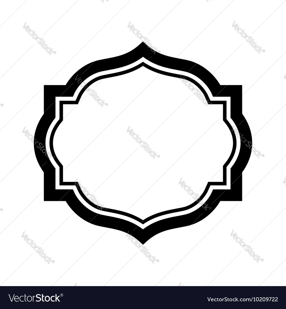 Black frame picture beautiful simple design vector