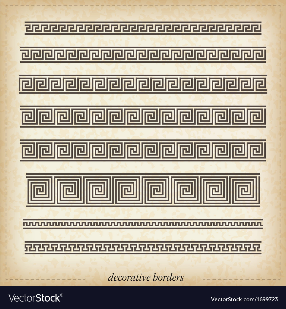Old greek ornaments vector