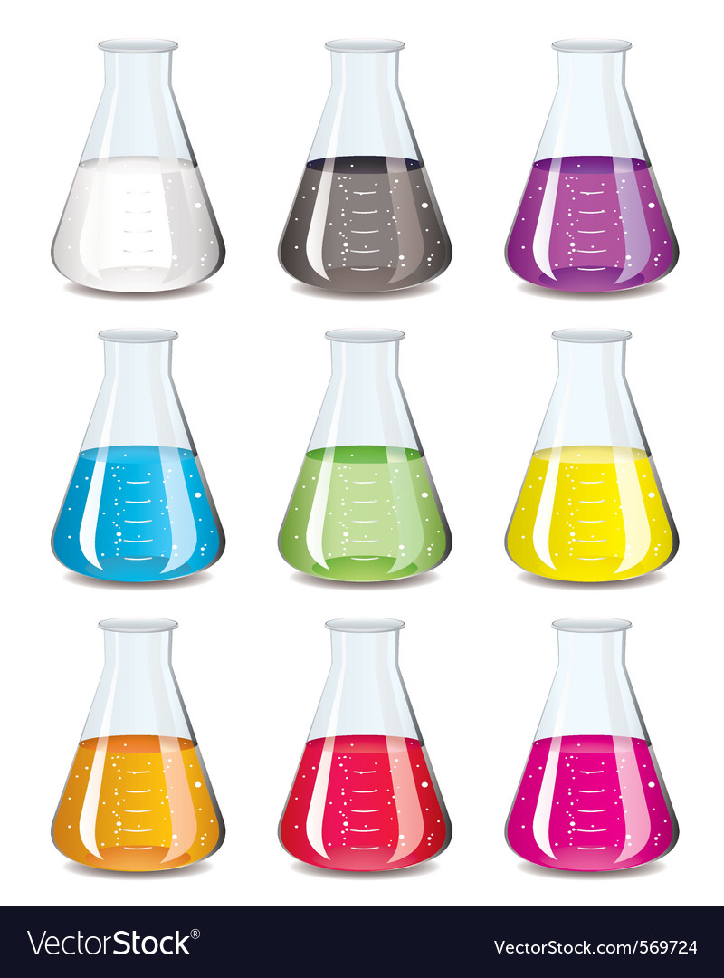 Chemistry flask vector