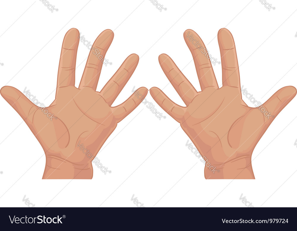 Ten from fingers vector