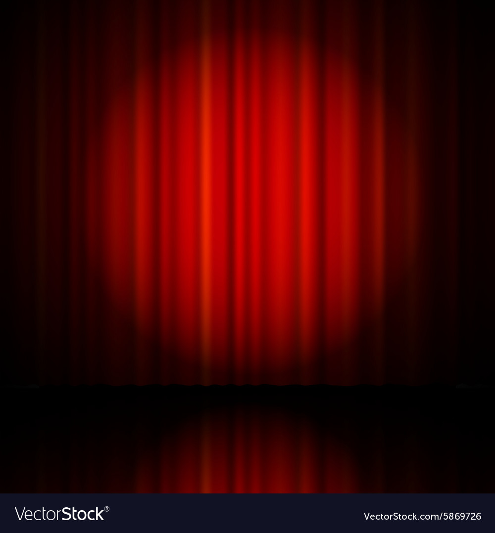Red curtain from the theatre vector