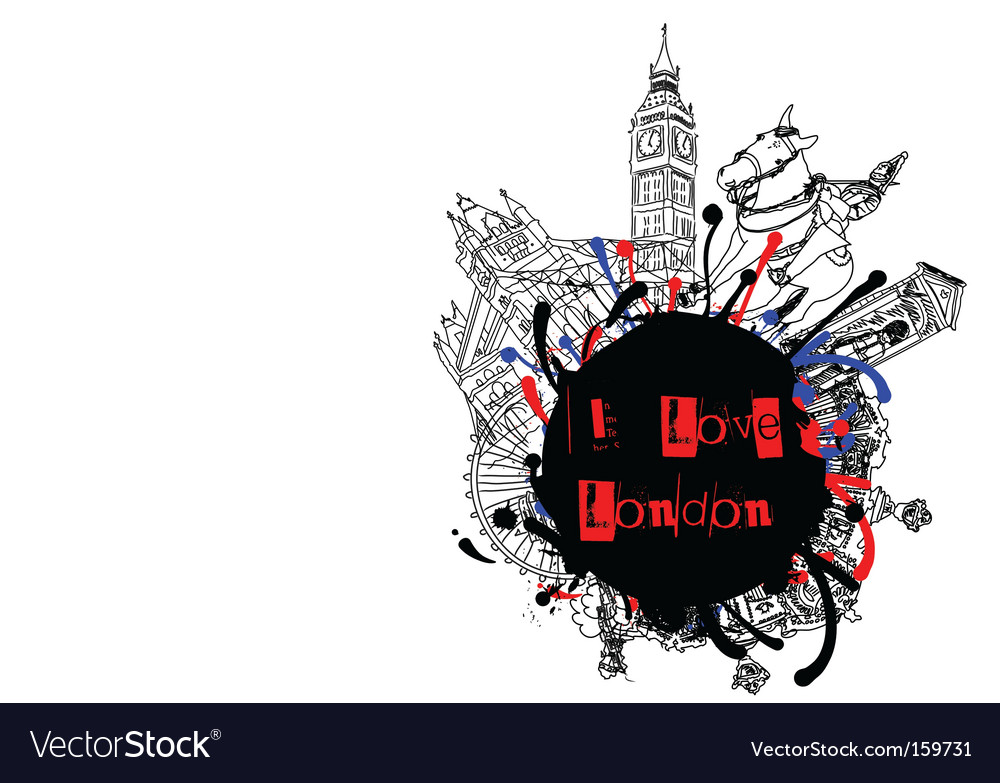 London frame vector