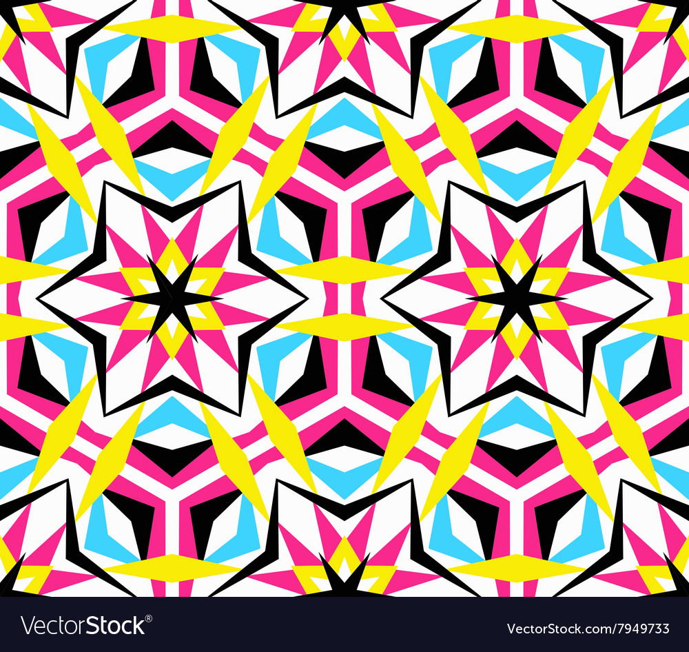 Kaleidoscope star pattern vector