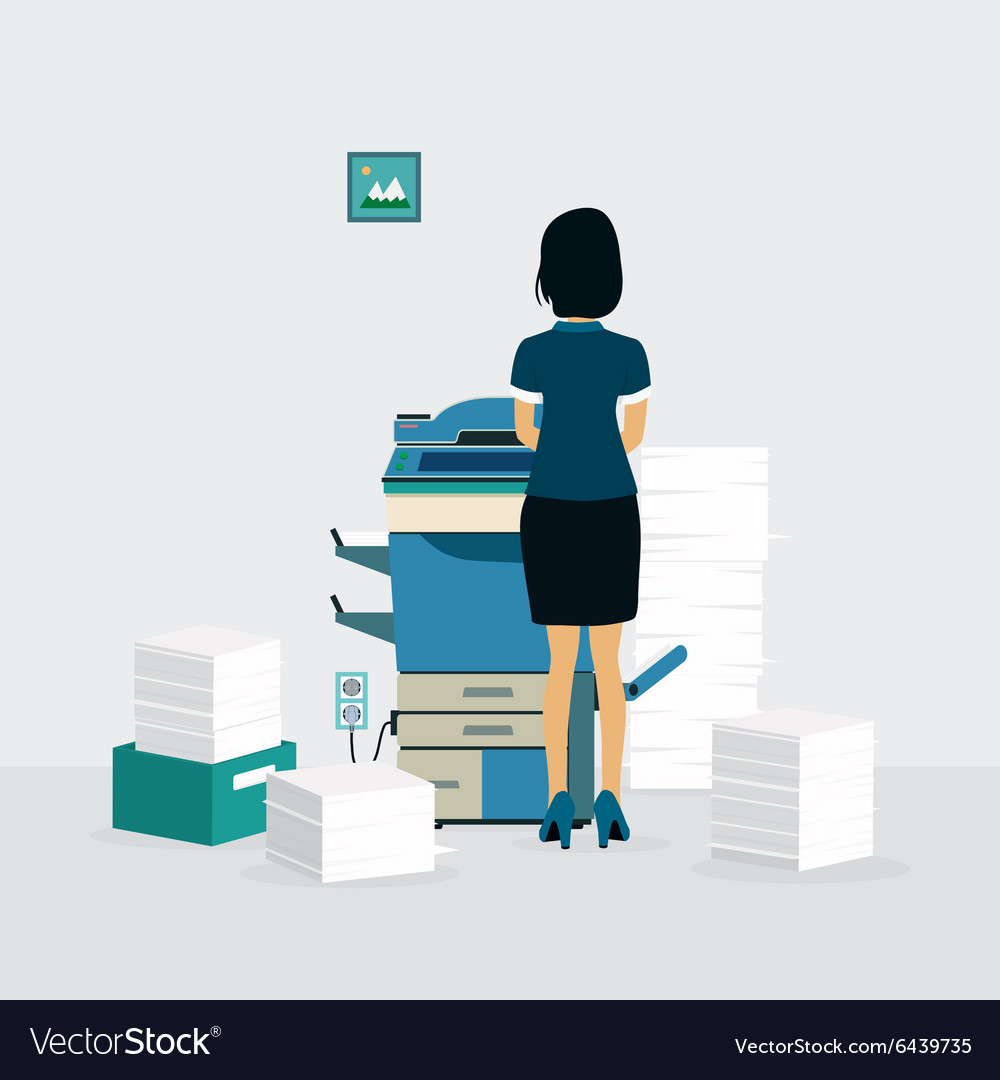 Photocopiers vector