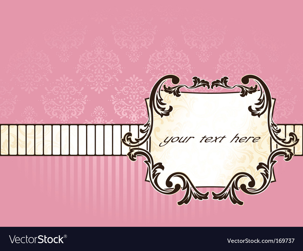 Elegant rectangular french vintage label vector
