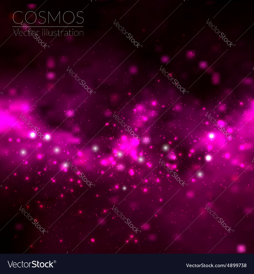 Cosmos with stars and galaxy vector