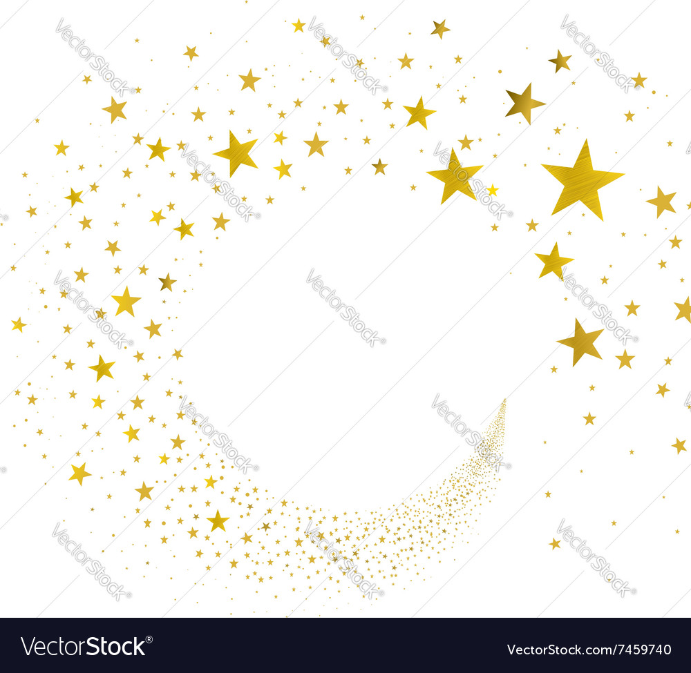 Stream gold stars vector