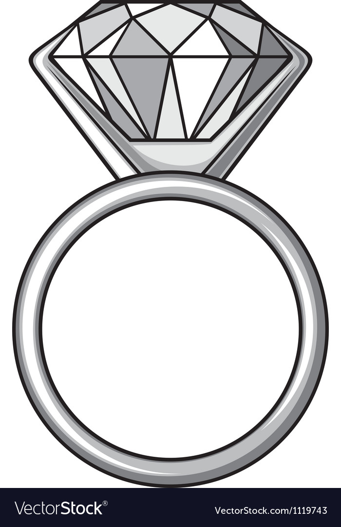 Diamond ring  ring with diamond vector