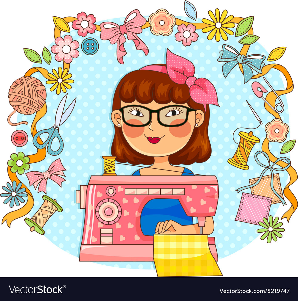 Creative sewing vector