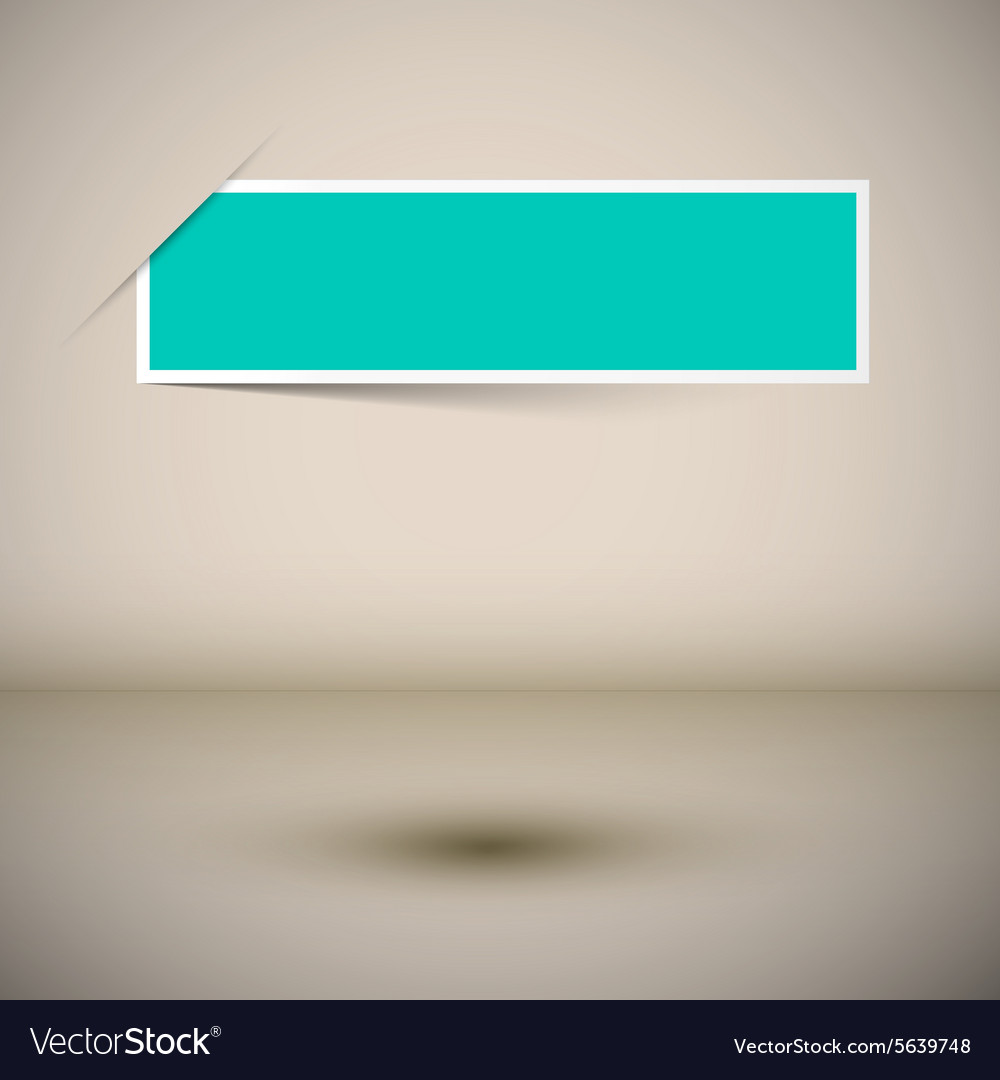 Empty frame template  blue label on abstract 3d vector