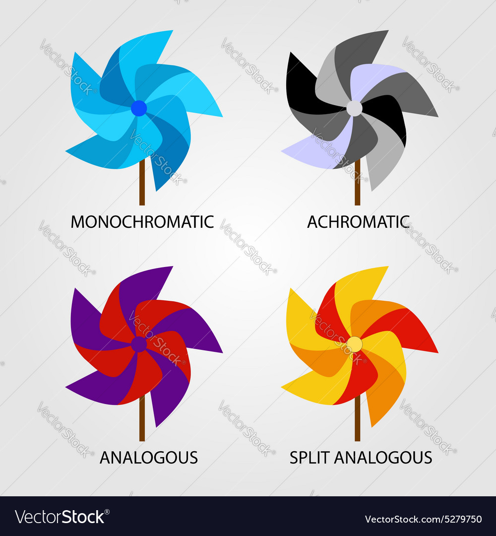 Set of color schemes vector