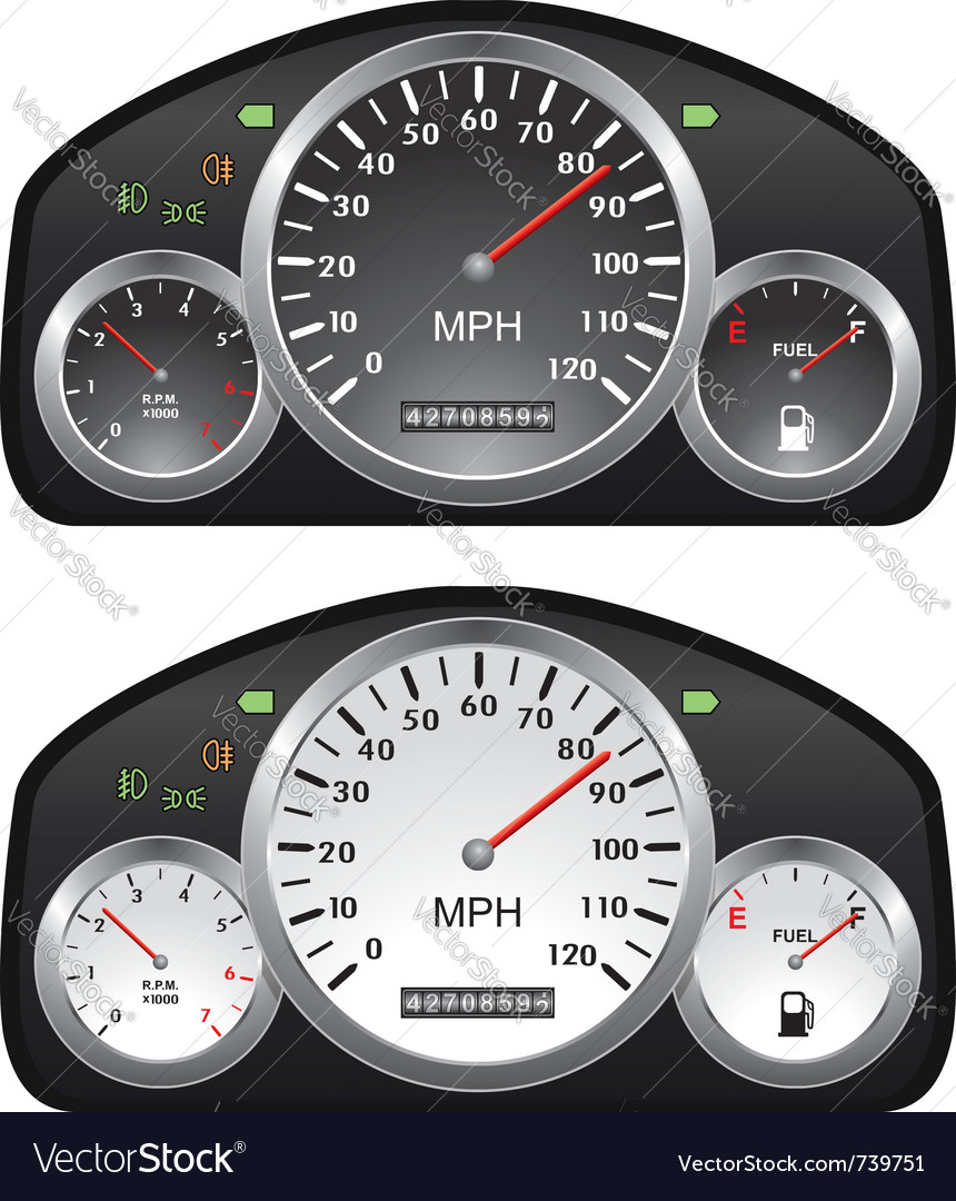 Car dashboards vector