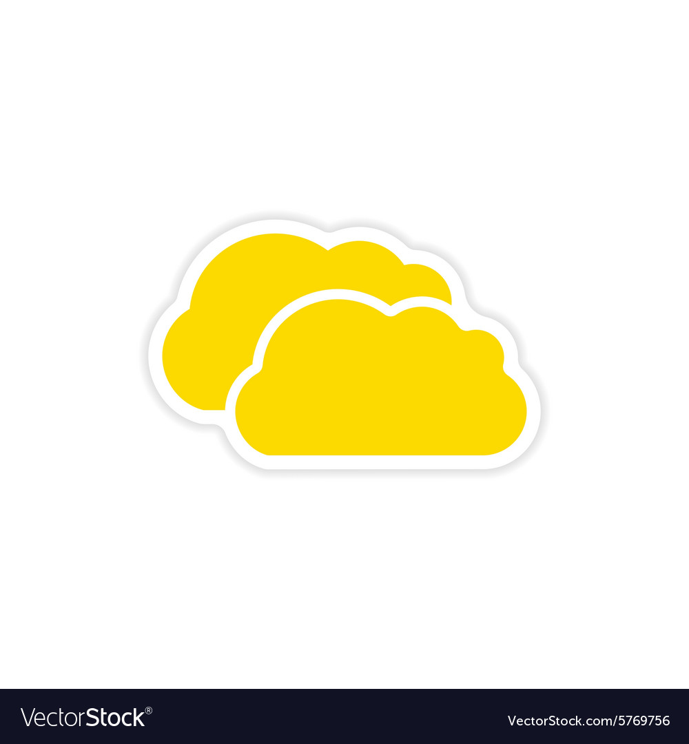 Icon sticker realistic design on paper clouds vector