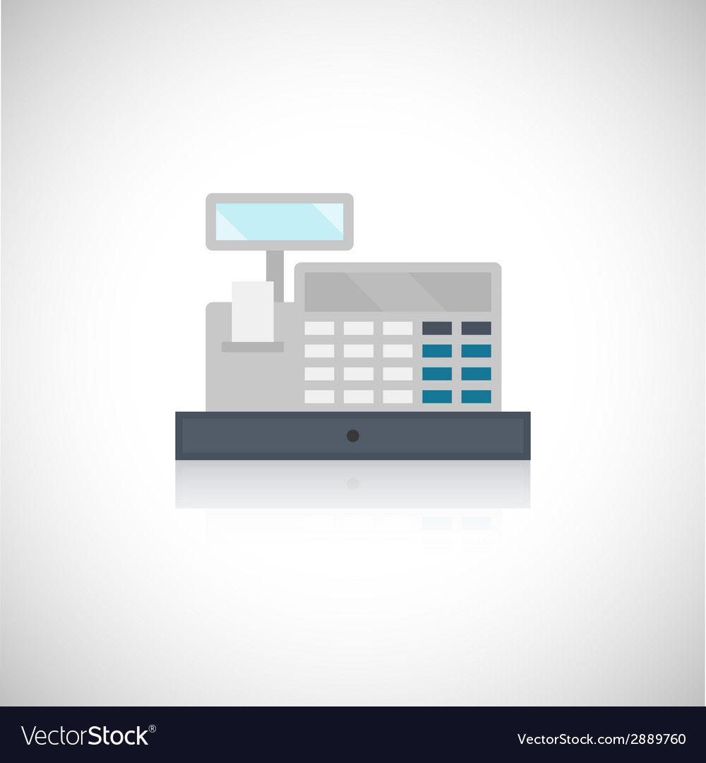 Cash register icon vector