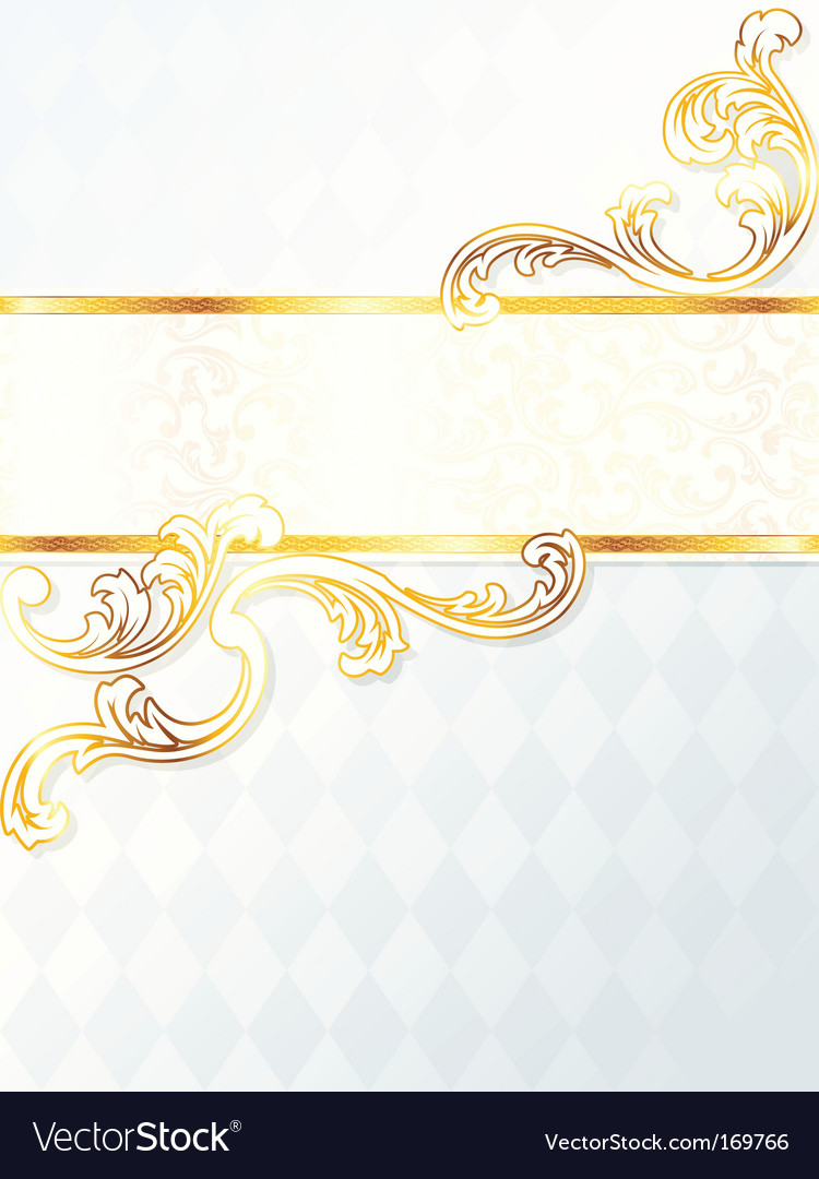 Beautiful vertical rococo wedding banner vector
