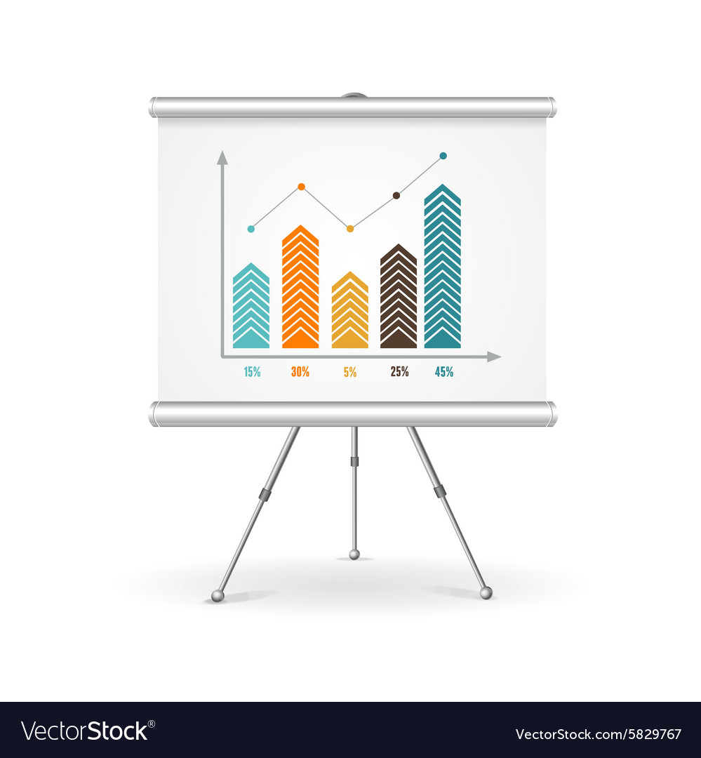 Flip chart business concept vector