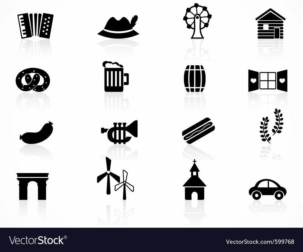 Germany oktoberfest icons vector