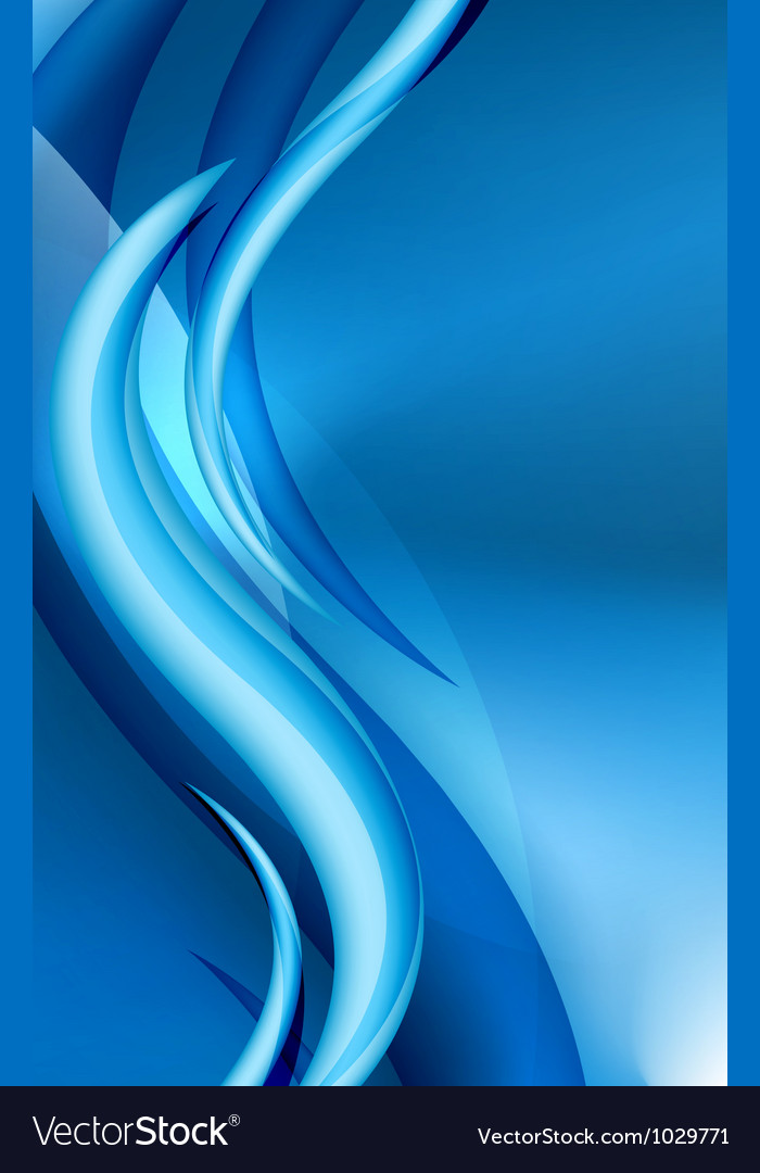 Aqua waves abstract background vector
