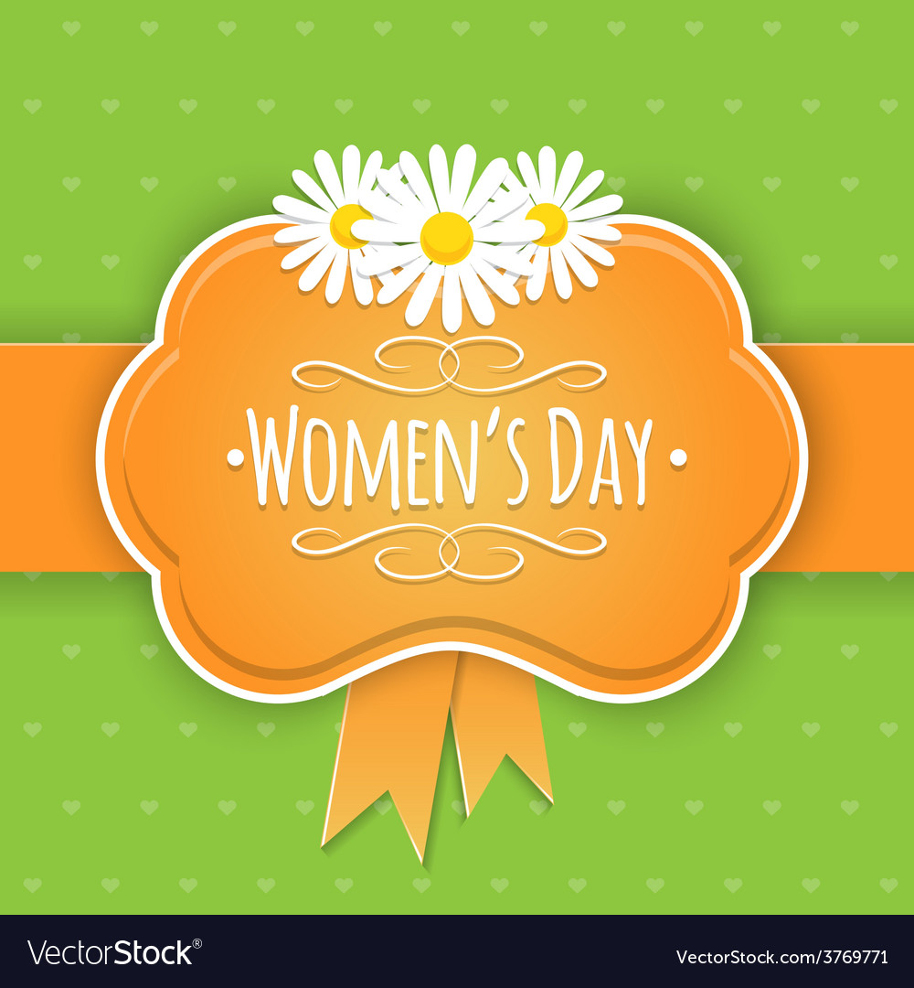 Eight 8 of march women day background vector