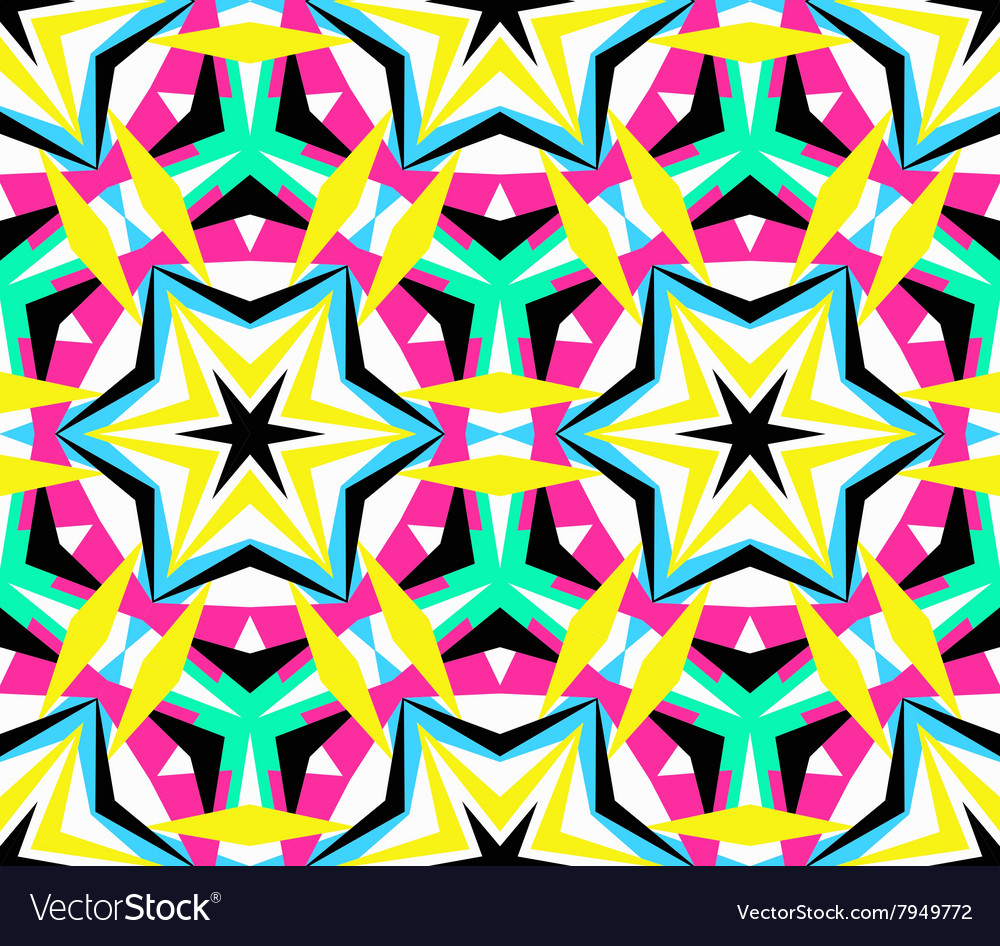 Kaleidoscope starry pattern vector