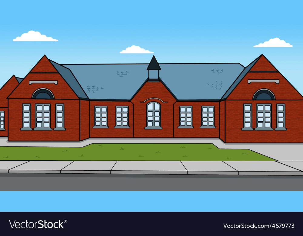 British school isolated landmark london vector