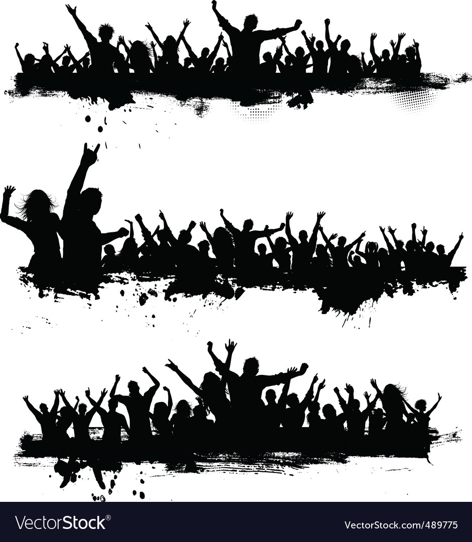 Grunge crowd vector