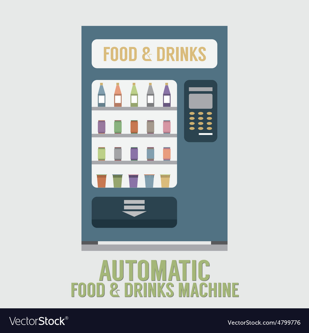 Automatic food and drinks machine vector