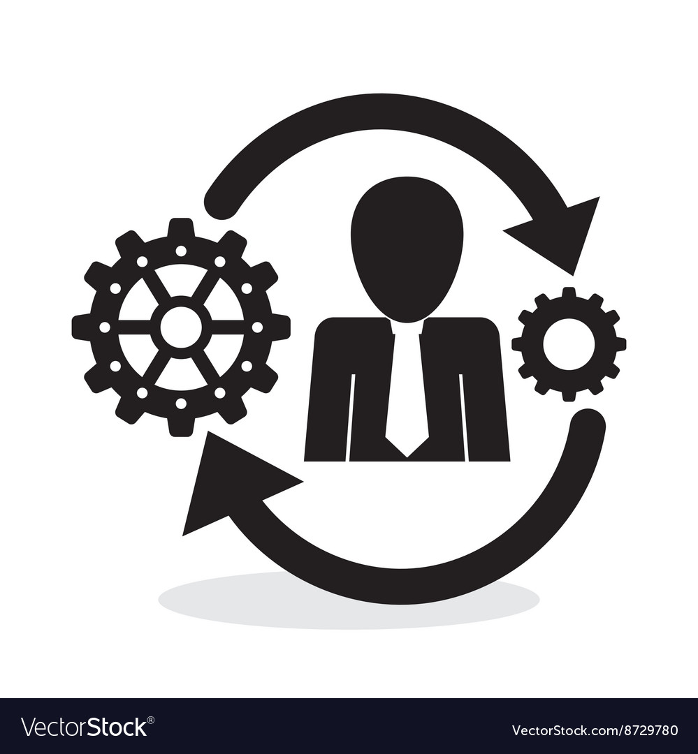 Process design solution and business concept vector