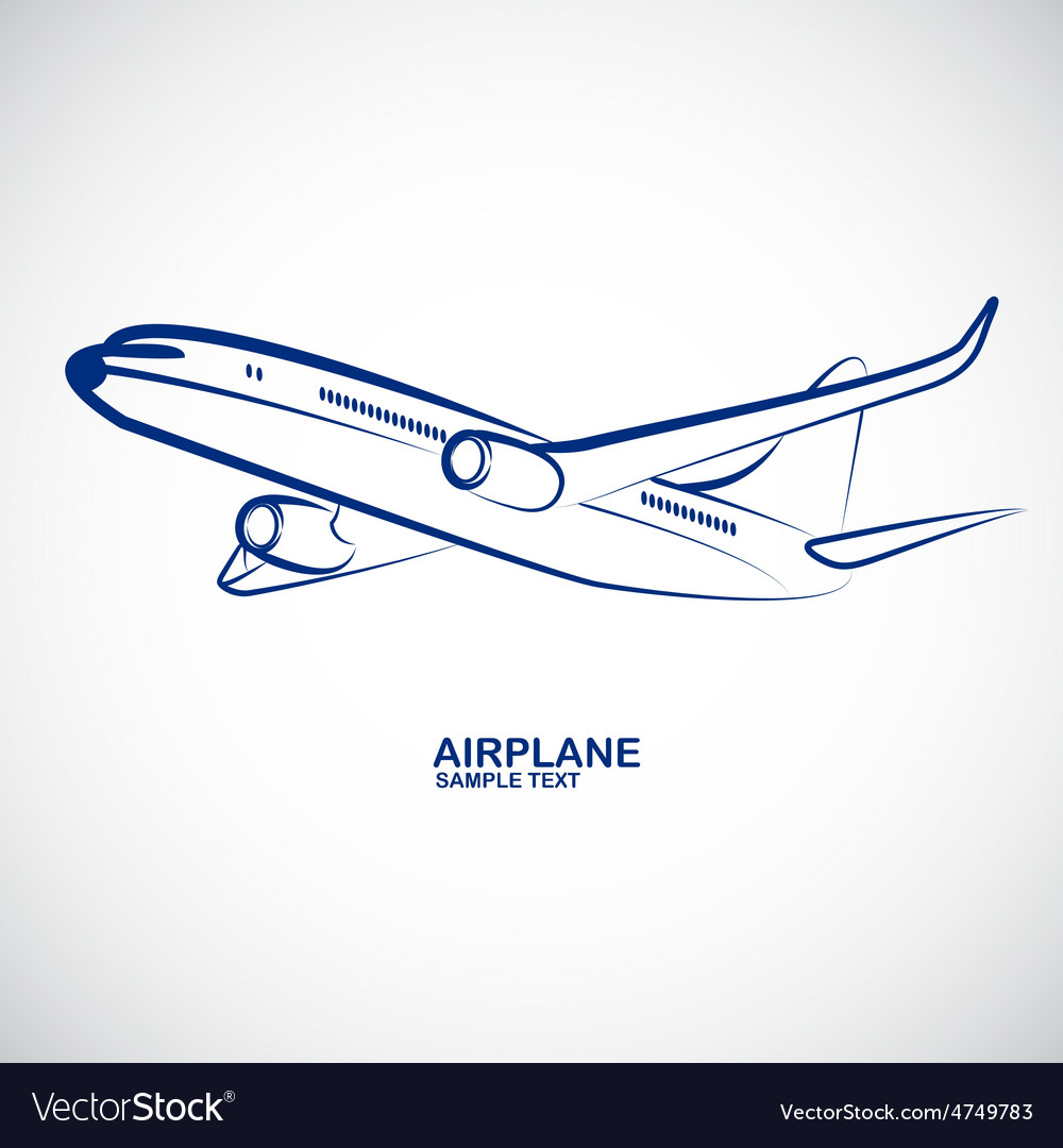 Airplane 2 vector