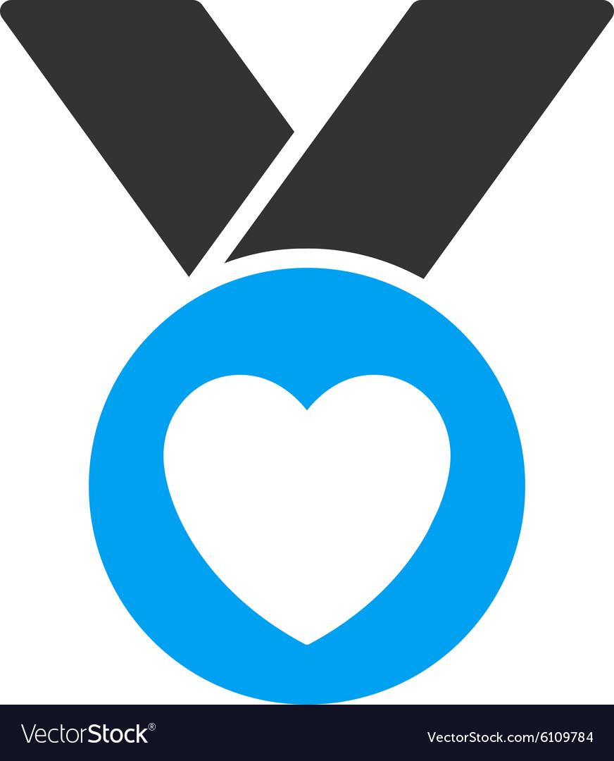 Charity medal icon vector